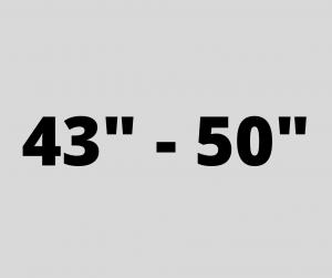 "43"" - 50"""